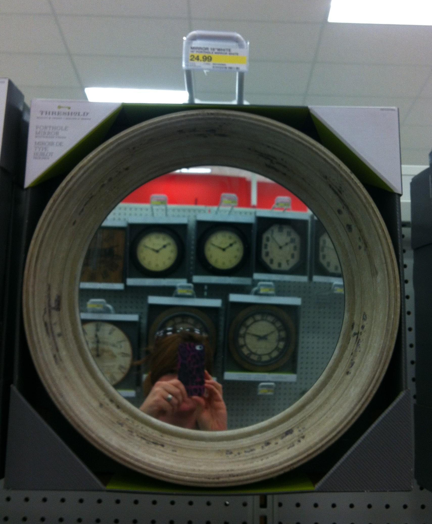 target port hole mirror