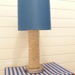 DIY Nautical Lamp with sisal rope wrap thehappyhousie