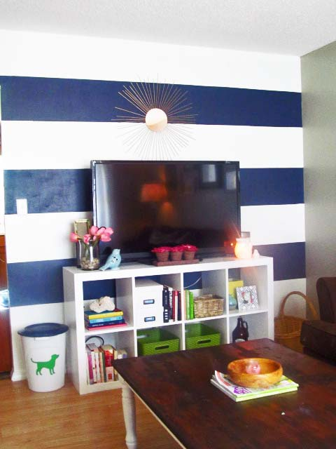 Living Room Wall Stripes 032blog
