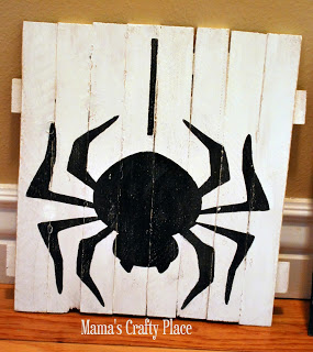 Halloween Mini Pallet Art Spider