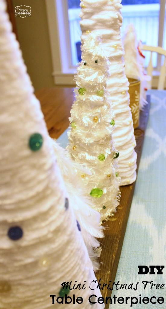 DIY Mini Christmas Tree Table Centerpiece