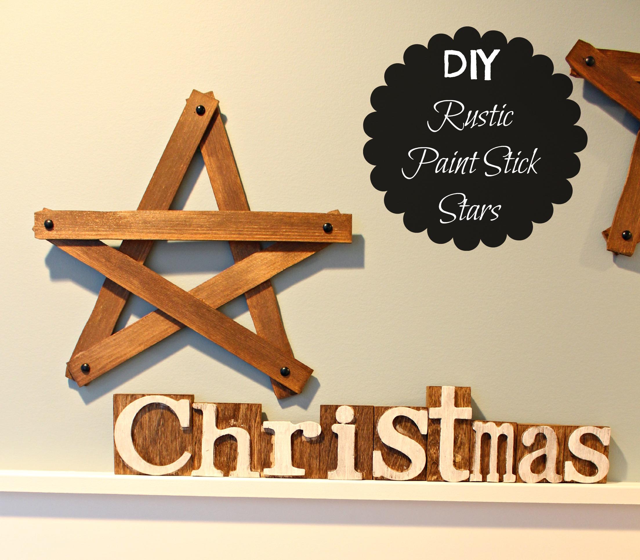 The Happy Housie DIY Rustic Paint Stick Stars
