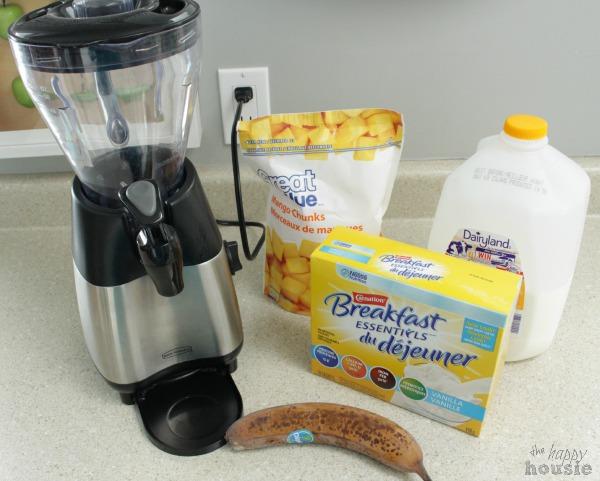 Mango Banana Breakfast Smoothie with Carnation Breakfast Essentials at The Happy Housie 1