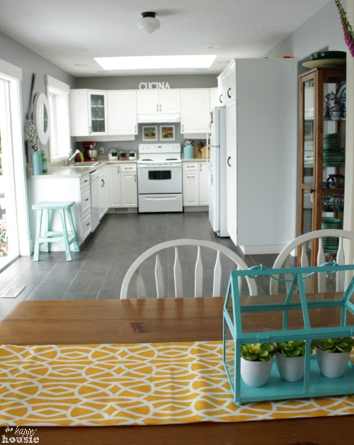 Summer House Tour at The Happy Housie kitchen