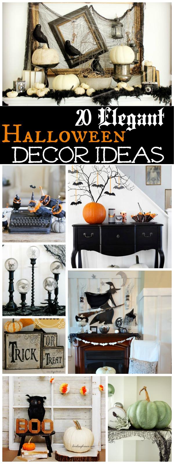 Elegant Halloween Decor Ideas at The Happy Housie