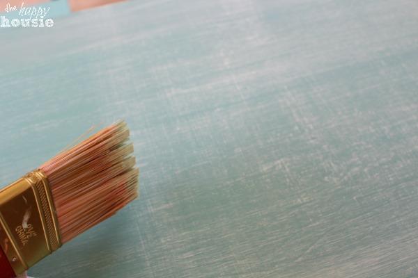 IKEA Tarva Dresser Hack with faux Linen Texture at The Happy Housie dry brush linen look