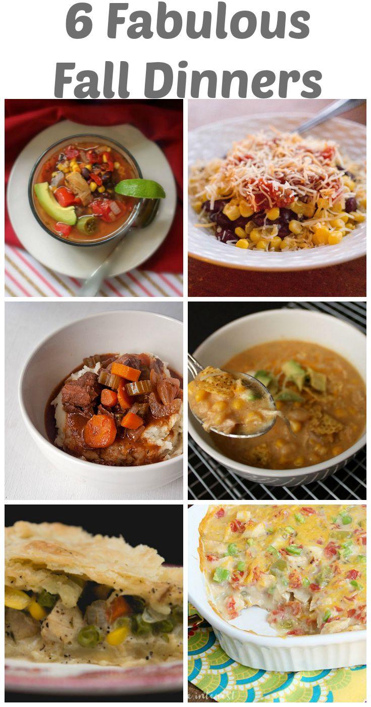 6 fabulous fall dinners